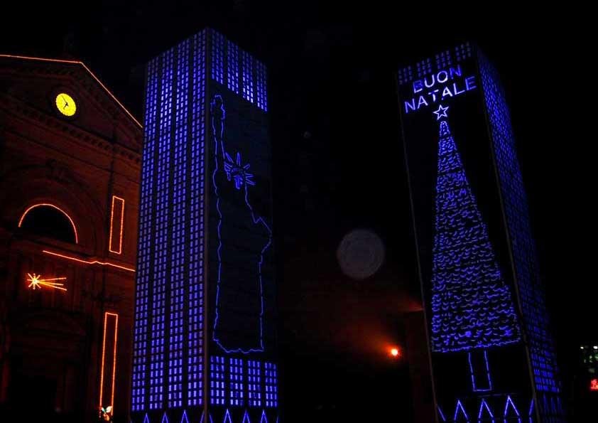 Torri Gemelle - rivestimento in tela retro illuminata