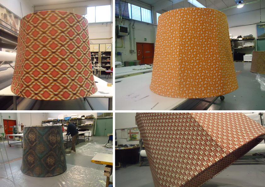 Paris Deco off - confezionamento tessuti vari per rivestimento paralumi