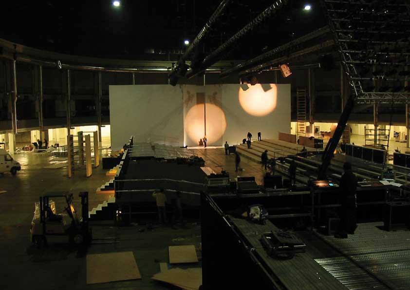 Sfilate Moda Milano - rivestimento quinte in tela sceno