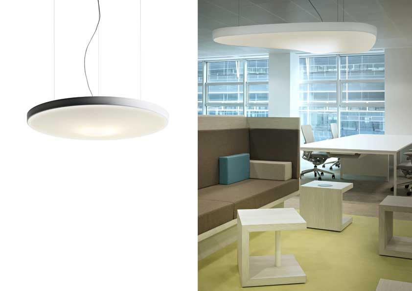 Pétale, design Odile Decq. Prod. Luceplan - Rivestimento GG Spazio Tessile