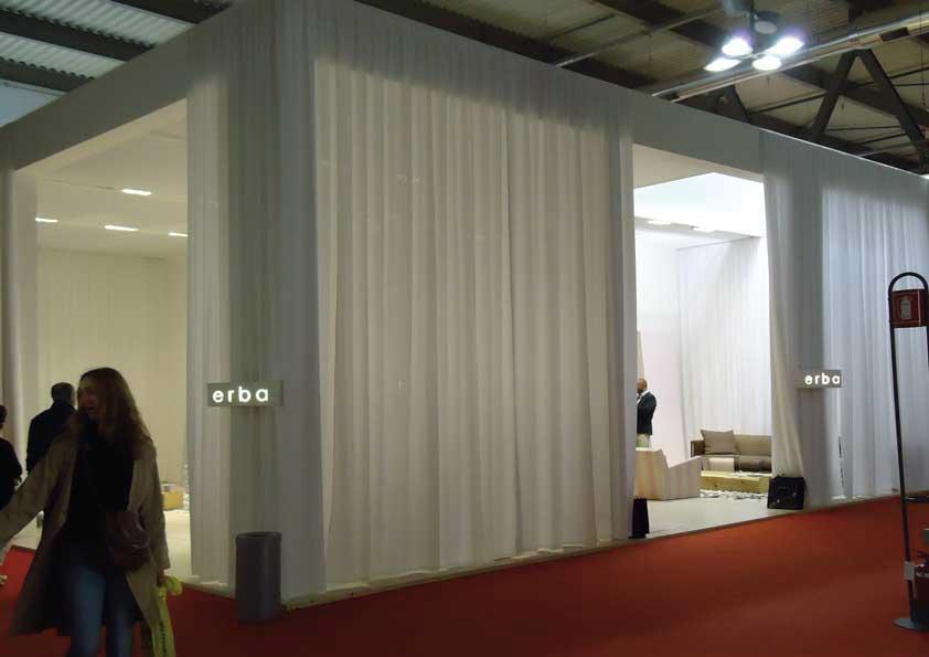 Salone del Mobile - Realizzazione tendaggi perimetrali stand