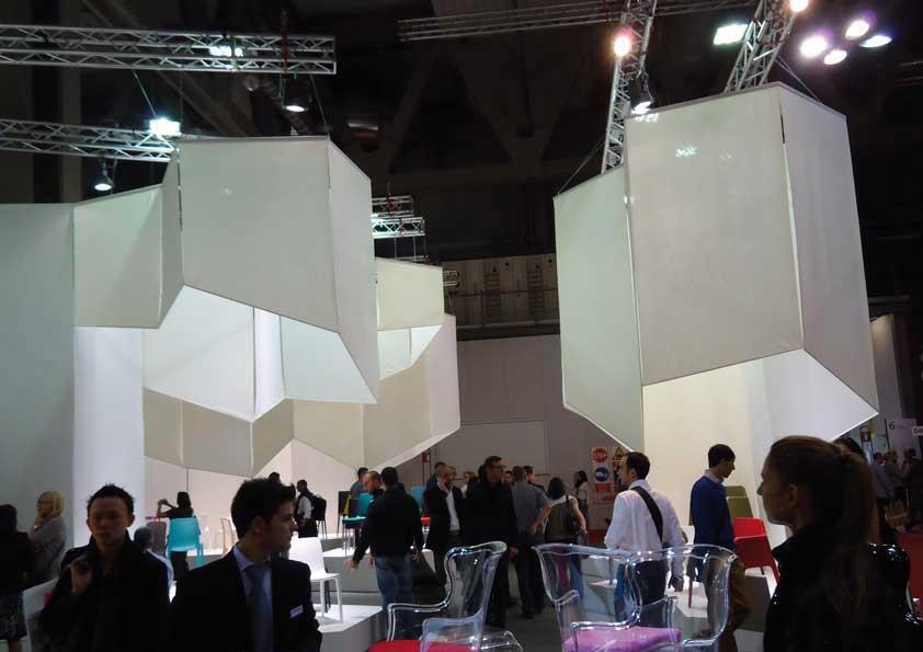Salone del Mobile - Rivestimento per lampadari in tela cotone