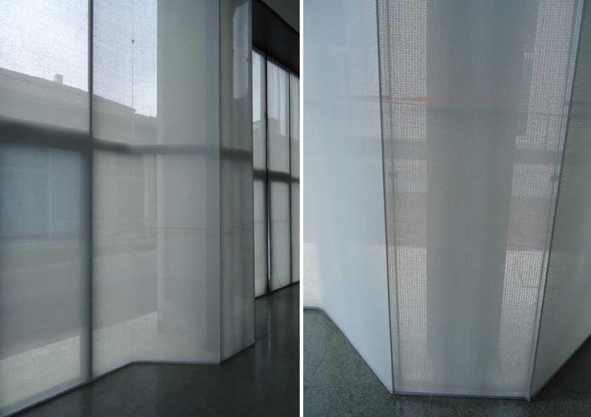 Museo della Scienza e della Tecnica - realizzazione e montaggio tende in pvc screen grigio x schermatura luce